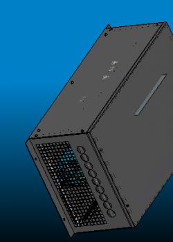 三维电气柜模型