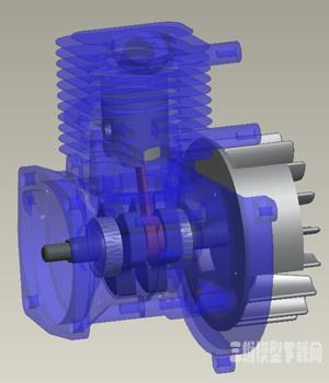 小型四冲程汽油发动机3D模型