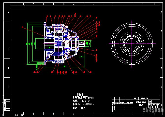 NGW51 一级行星齿轮减速器