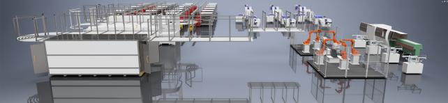 自行车生产工厂设备布局三维模型