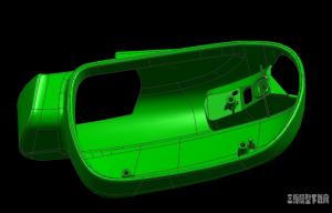 汽车后视镜模具设计结构模型