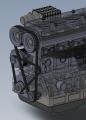俄罗斯并联4缸双曲轴发动机3D模型 SolidWorks设计