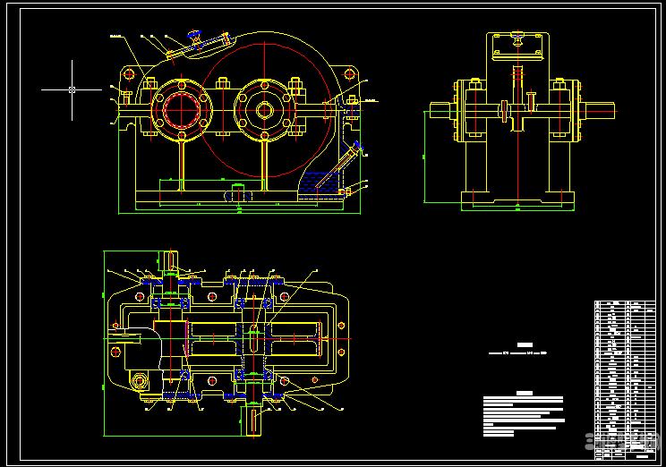 0611一级减速器CAD图纸图片