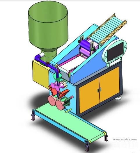 全自动仿手工饺子机3D图纸 Solidworks设计