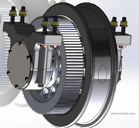 驱动桥机构3D图纸 SOLIDWORKS设计