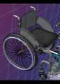 带前辅助轮的轮椅模型3D图纸 STP格式