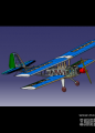 双翼飞机模型下载