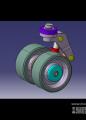 液压悬挂转动轮模型下载