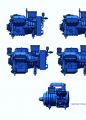 富士豪半封闭往复式双级制冷压缩机