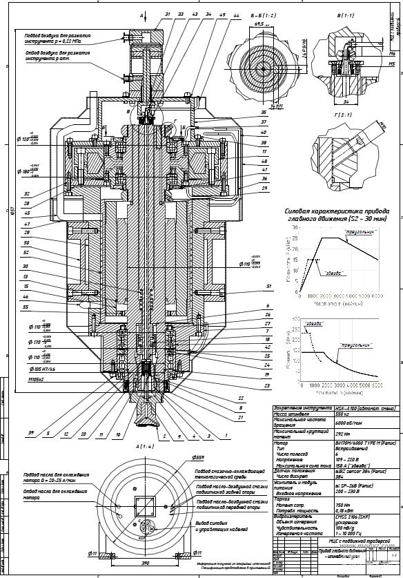 数控铣床主轴3D数模图纸 STP格式