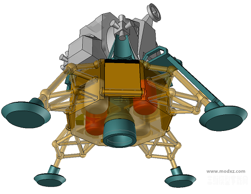 阿波罗11号登月舱简易模型3D图纸 STP格式