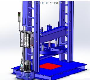 非标液压机3D数模图纸 Solidworks设计