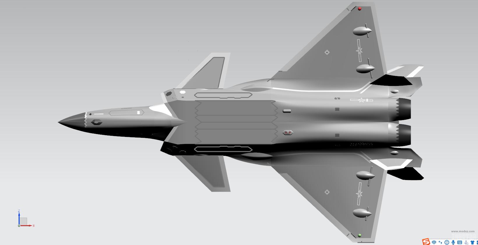 国产歼20隐身战斗机飞机模型