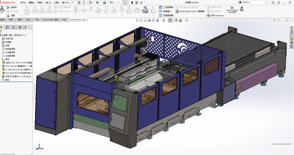 激光切割机模型-Solidworks2016设计