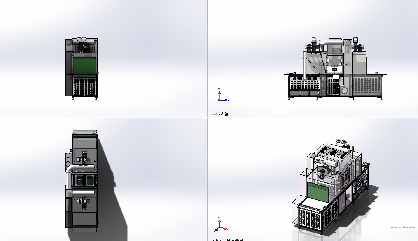 双灯式UV机.内嵌冷气A型(手机屏幕UV固化机) 3D模型